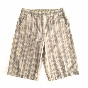 The North Face Plaid Shorts Cotton Youth Boy's 18